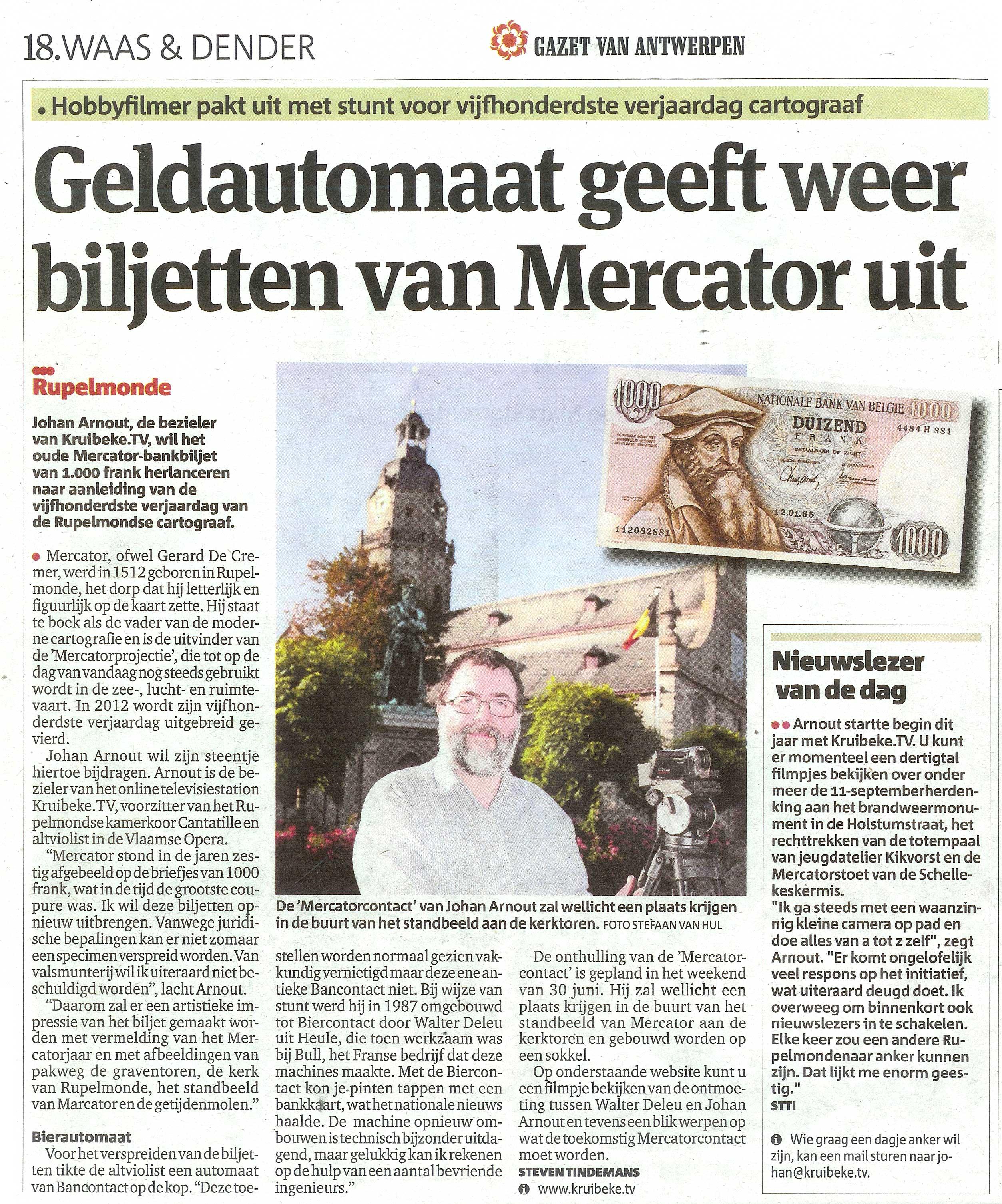 Bancontact in GAZET VAN ANTWERPEN