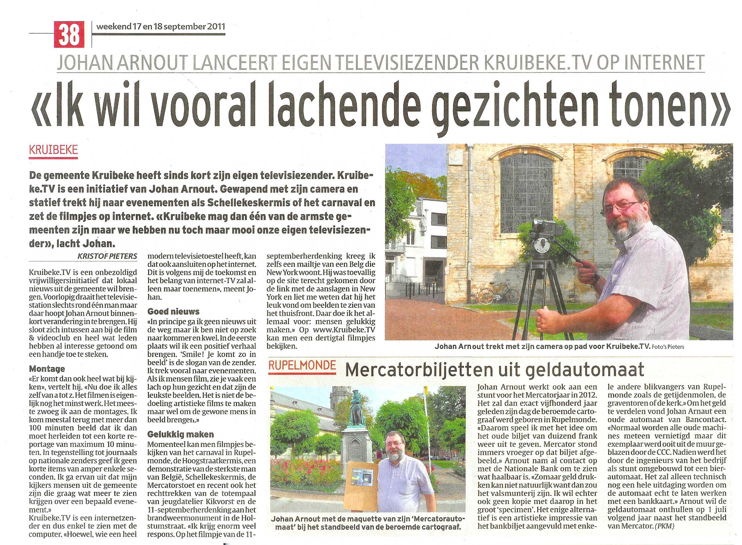 Kruibeke.TV in Het Laatste Nieuws