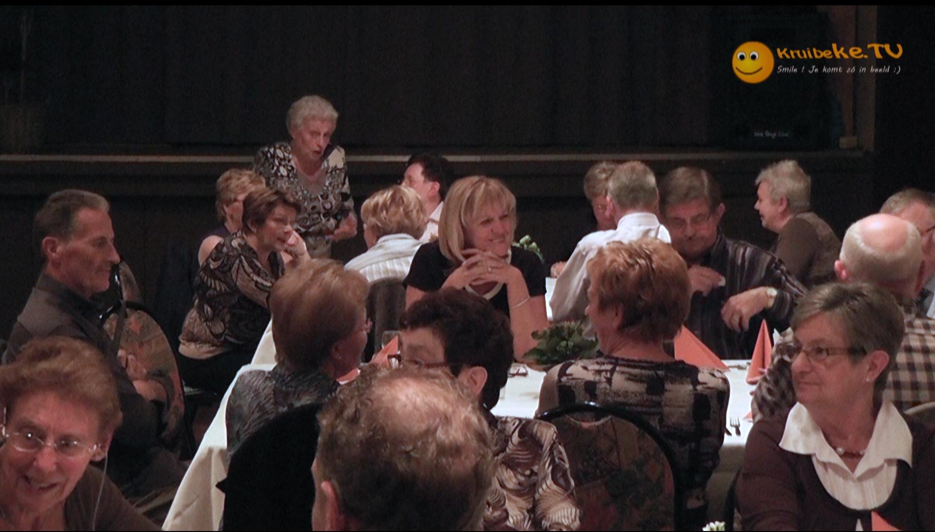 de 70 jarigen uit Kruibeke komen samen in 't Rozeke