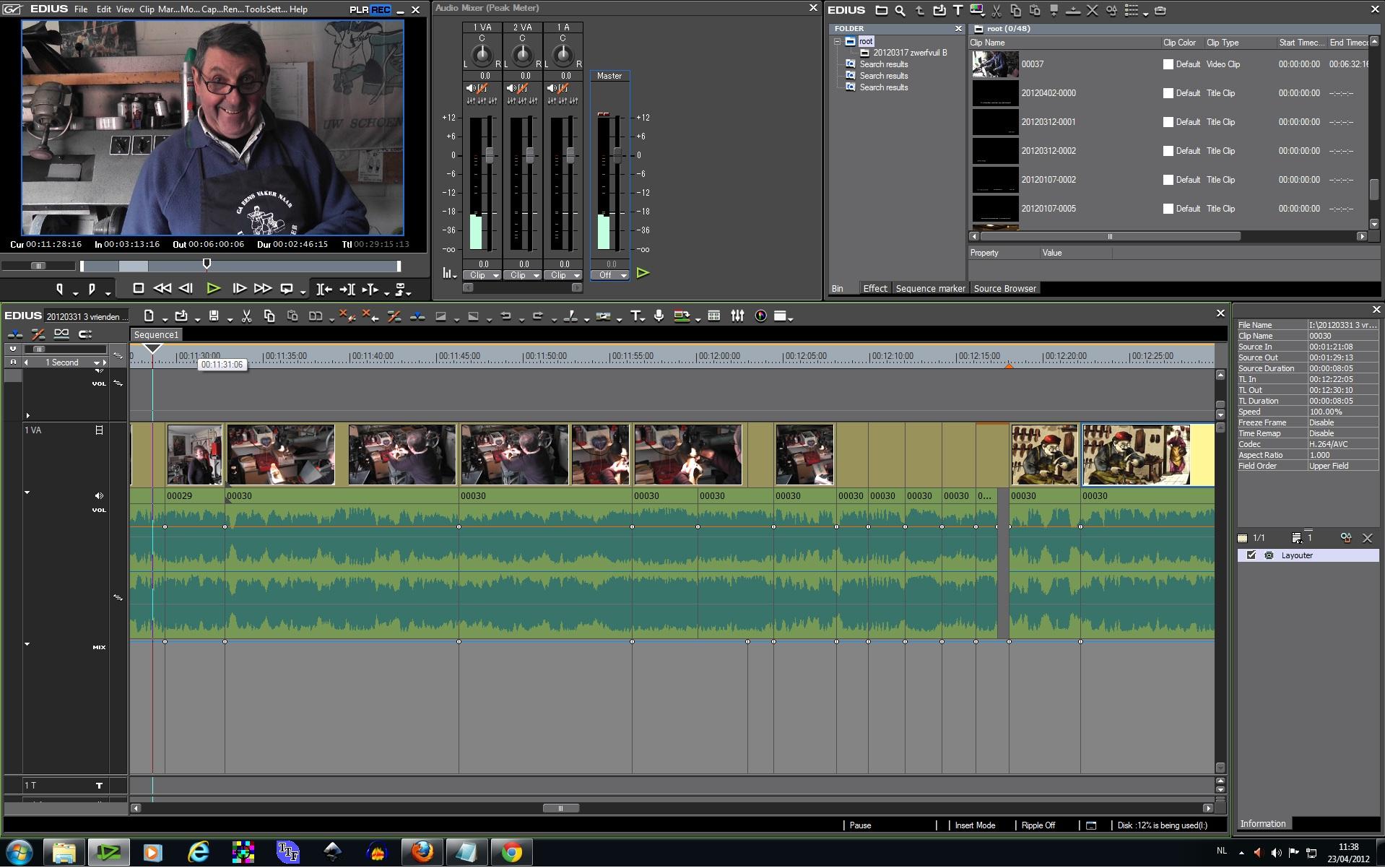 Demo videomontage & effecten met Edius