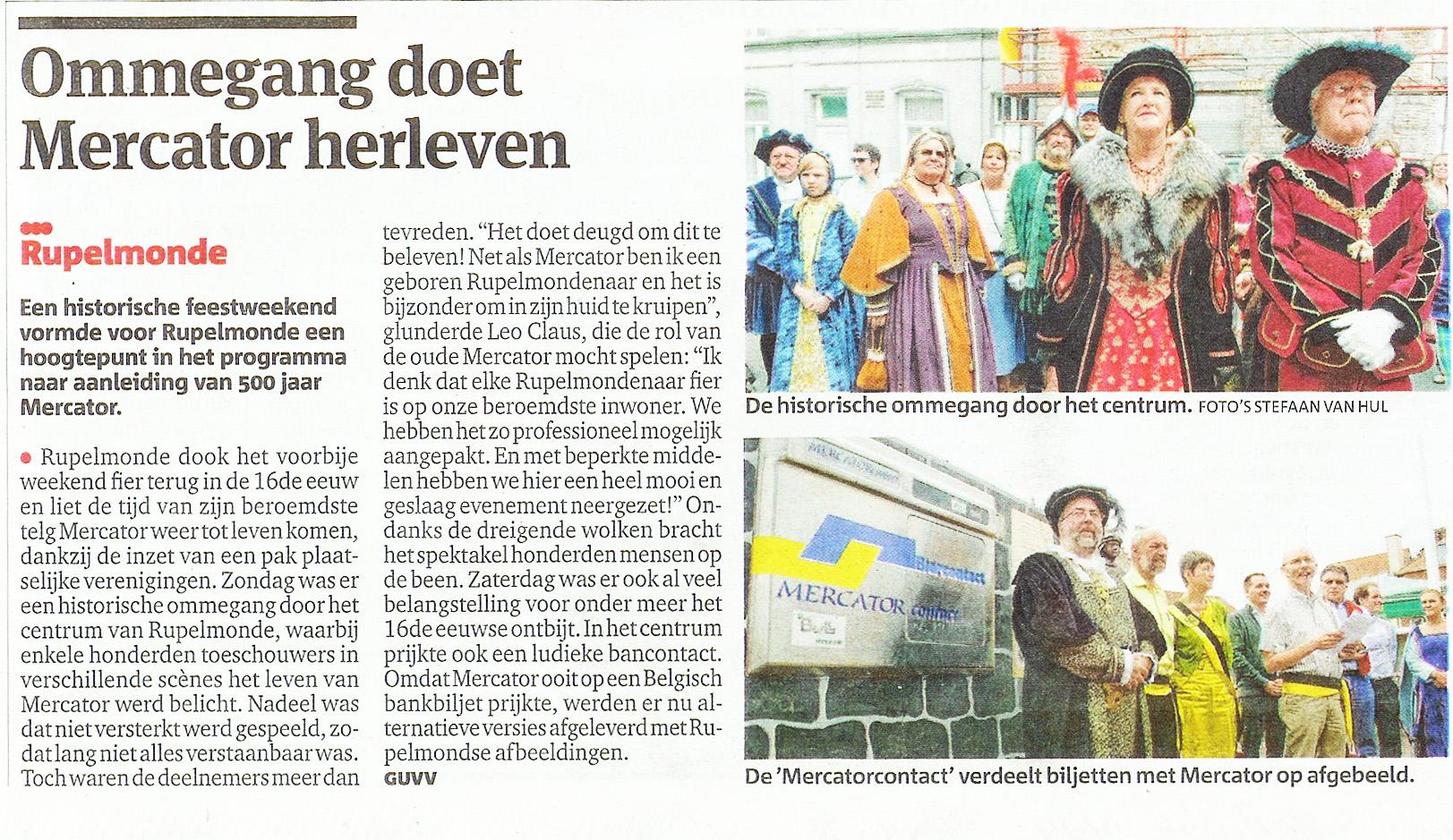 MERCATORweekend in Gazet Van Antwerpen
