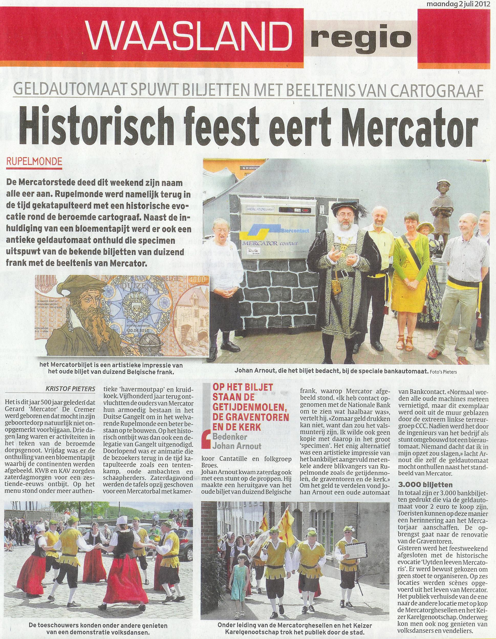 MERCATORcontact in Het Laatste Nieuws