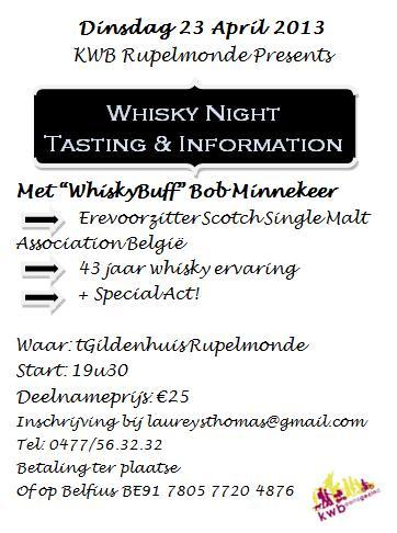 KWB Rupelmonde Whisky Night