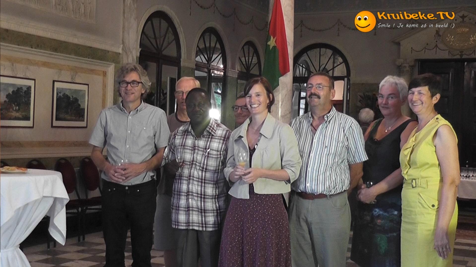 Remi Bense uit Burkina Faso ontvangen in Kruibeke
