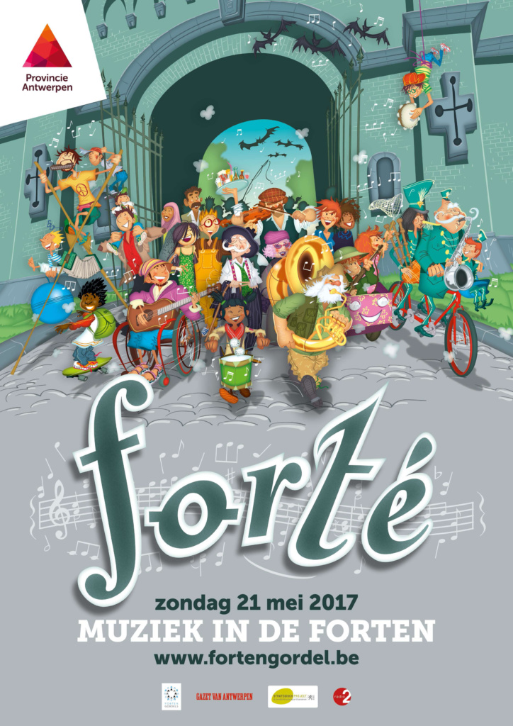 Cantatille zingt in Fort van Steendorp
